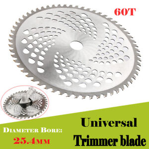 """2x 10 Inch Carbide Tip Brush Cutter Trimmer Weed Eater Blade 1/"""" Bore 60 Teeth"""