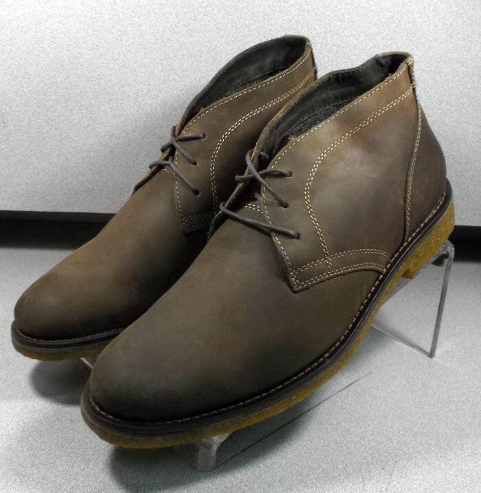5912360 MSBT 50 para hombres zapatos M Marrón Cuero Con Cordones botas Johnston Murphy