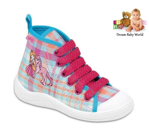 Befado Filles Toile Chaussures Baskets cheville nouvelle taille 8-12 uk