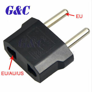 5PCS US USA  to EU Europe Power Jack Wall Power Plug Converter Travel Adapter
