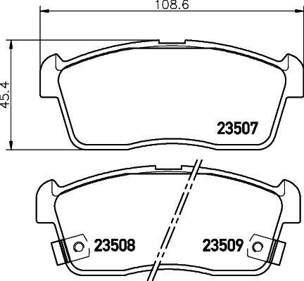 For Suzuki Front 231mm Brake Discs /& Pads Set Unipart GF Alto 1.0 2009-2015