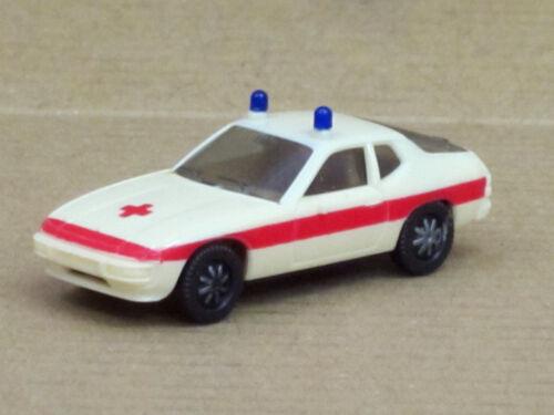 "Porsche 924 en crema//rojo /""cruz roja/"" 1:87 o Herpa OVP"