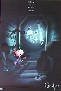 CORALINE-More You See, The Braver You Are-Licensed POSTER-90cm x 60cm-Brand New