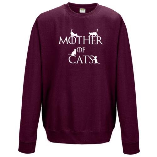 Funny Dragons Slogan Gift Fashion Unisex Jumper Mother of Cats Sweatshirt