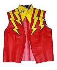 WWE MACHO MAN RANDY SAVAGE RING WORN HAND SIGNED MEGA POWERS JACKET VEST W/ COA