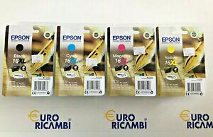 Cartuccia-EPSON-16XL-COMPLETO-4PEZZI-Originale-C13T16364022-Fattura-amp-Scontrino
