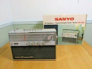 Vintage Sanyo Campanetta 15 Transistor 7 Band All Wave Radio Model 15H-860