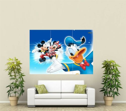 Mickey /& Minnie Mouse /& Donald Duck Giant XL Section Wall Art Poster KR105