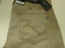 34 X 32 ROCK & REPUBLIC STRAIGHT LEG NEIL JEANS -TAN- NWT