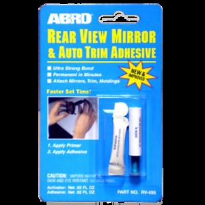 Glass /& Metal Trim /& Molding Glue Adhesive Abro Car Rear View Mirror Bonder