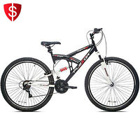 29 Men's Mountain Bike Bicycle Shimano Full Suspension 21 Speed