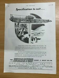 1954-Wharton-Grue-amp-Treuil-Co-Limitee-Stockport-Vintage-Annonce