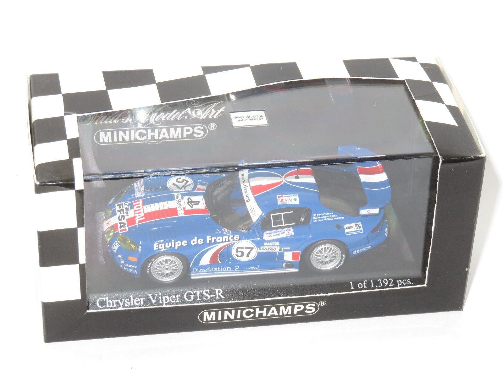 1/43 Chrysler Viper GTS-R EQUIPE DE FRANCE Ffsa LE MANS 24 ore 2001  57
