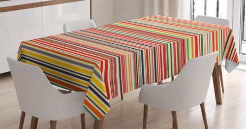 Bunt Tischdecke Horizontale Streifen Schmutzabweisend