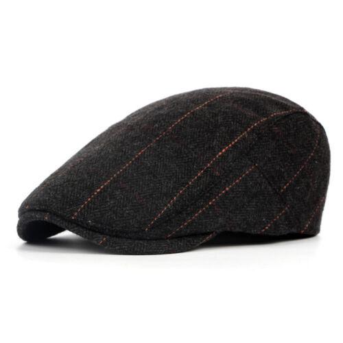 Herren Barett Gatsby Kappe Zeitungsjunge Baumwolle Hüte Cabbie Cap Schiebermütze