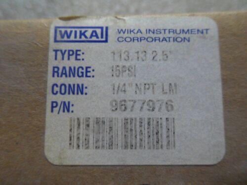 V23-3 1 NIB WIKA 9677976 15PSI PRESSURE GAUGE