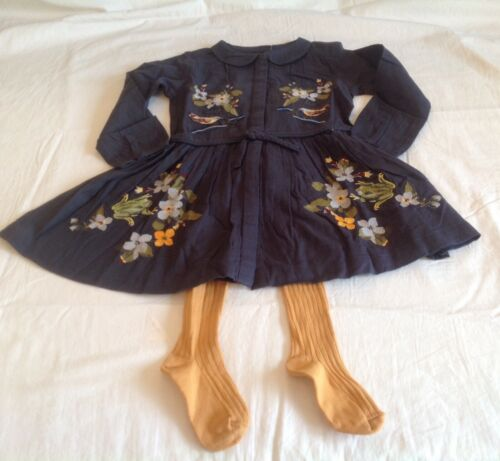 GIRLS NEXT DRESS AND TIGHTS SET 12MTHS-6YRS RRP £22 BNWOT FREE P/&P