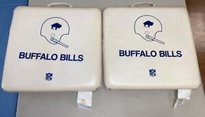 Original 1960's Buffalo Bills NFL FOOTBALL Standing Buffalo Pair SEAT CUSHIONS