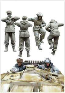 1-35-Resin-WWII-German-Stug-Crew-2-Tankers-Unpainted-Unassembled-BL587