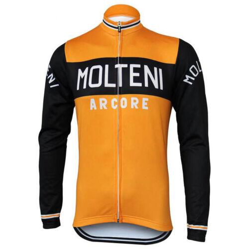 MOLTENI Long Sleeve Cycling Jersey Winter Fleece Retro Road Pro MTB Bike