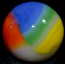 "MARBLE KING GLASS MARBLE/.626""BEACHBALL-WHITE,TOMATO,BLUE,GRASS,TANGERINE,CELERY"
