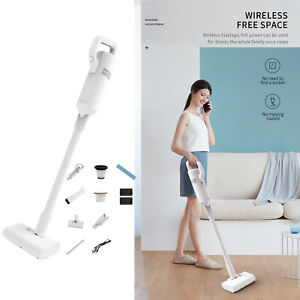 Lightweight White Wireless Handheld Vacuum Cleaner Car Duster USB Accessory