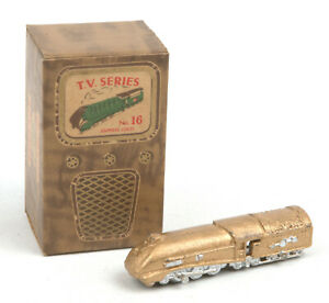 Vintage Benbros T.V Series No.16 Gold Streamlined Express Loco *BOXED*