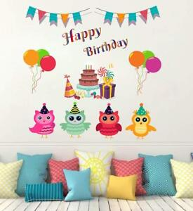Details About Hy Birthday Wall Sticker Art Vinyl Decal Mural Home Room Decor