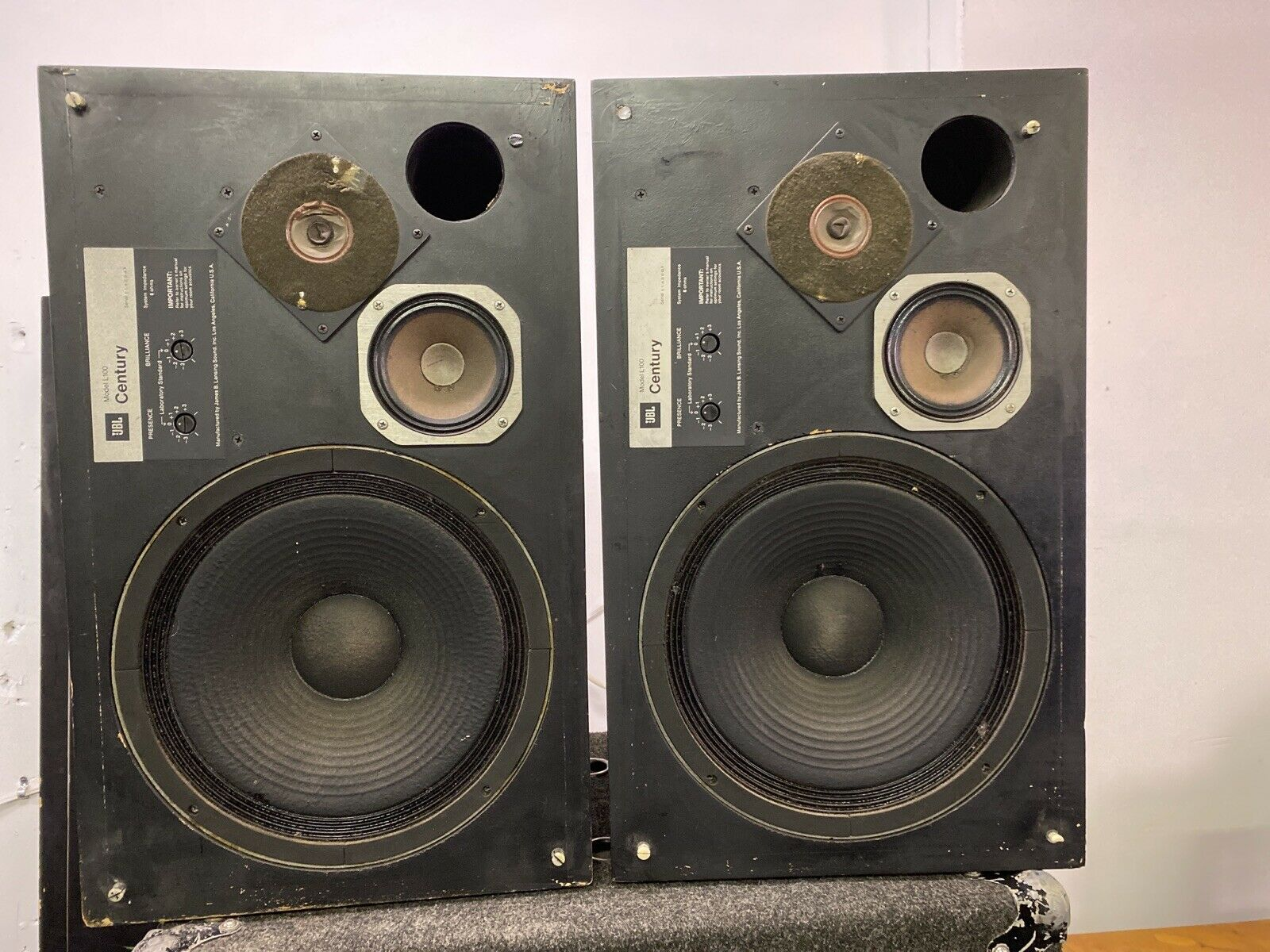 s l1600 - 2- Jbl L100 Century Vintage Speakers