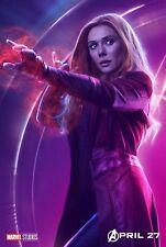 Hot Avengers Infinity War Scarlet Witch DC New Art Poster 40 12x18 24x36 T-4070