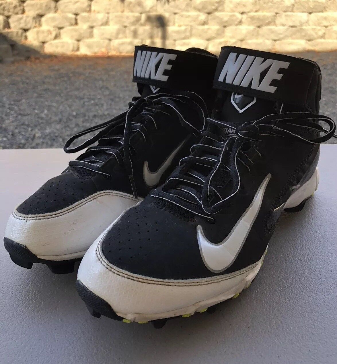 6b4f254cd60 Nike Fastflex Fastflex Fastflex Huarache Black   White Baseball Cleats Mens  US Shoe Size 8