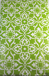 Fleur De Lis Vinyl Umbrella Tablecloth W/whole & Zipper Green Assorted Sizes AgréAble Au Palais
