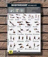 Hot Bodyweight Body Exercise Training Fitness New Art Poster 12x18 24x36 T-2321