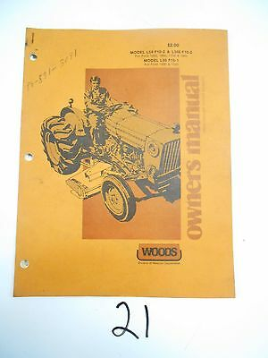 Woods L59 L306 F10 2 Ford 1000 1600 1700 1900 Mower Owner S Operator S Manual EBay