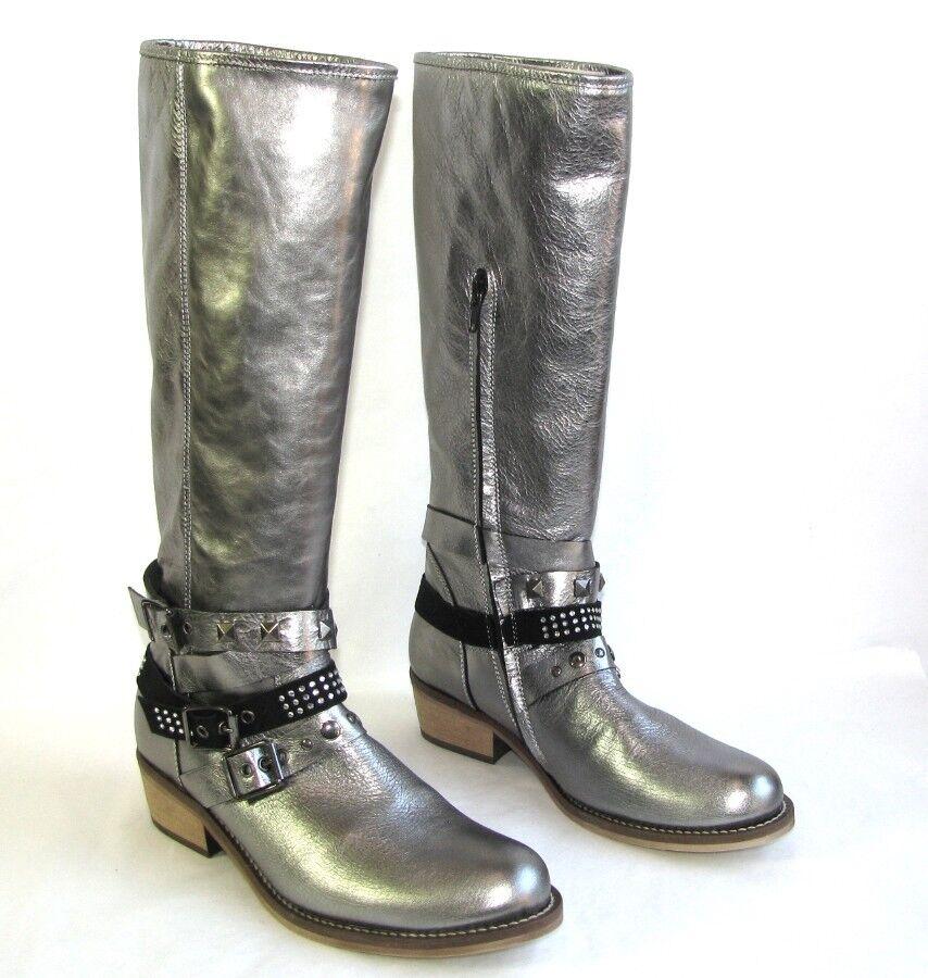 HIP HIP HIP skor Riding stövlar alla silver grå 37 ny  Vi erbjuder olika kända varumärken