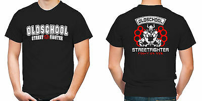 Old School Streetfighter T-Shirt | Hardcore | MMA | ACAB | Fussball | M6