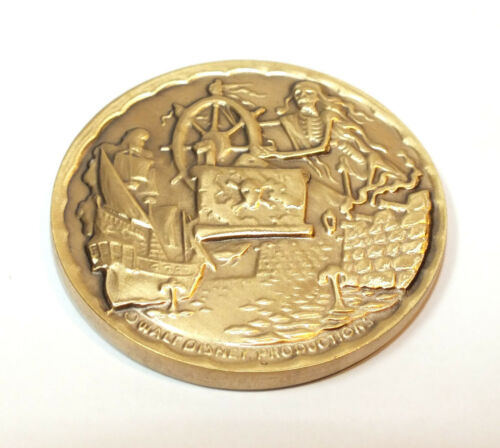 Disney Collector Coin Pirates of the Caribbean Skeleton Ships Wheel Scene WDW