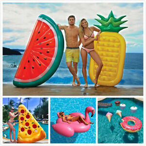 Details about Inflatable Giant Swim Pool Floats Raft Air Lounge Bed  Swimming Pool Beach Float
