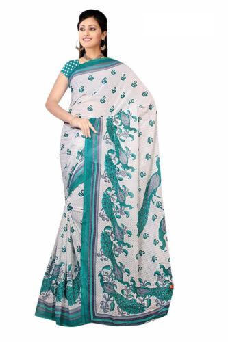 Chiffon Bollywood Karneval Sari Orient Indien Fo427