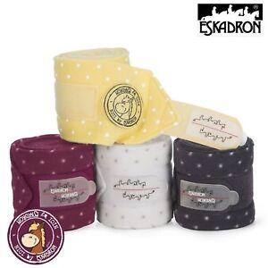HonnêTe Eskadron Nici Fleece Bandages X 4 Dots Pleine Taille De Voyage/stable Crème/beige Spot-afficher Le Titre D'origine