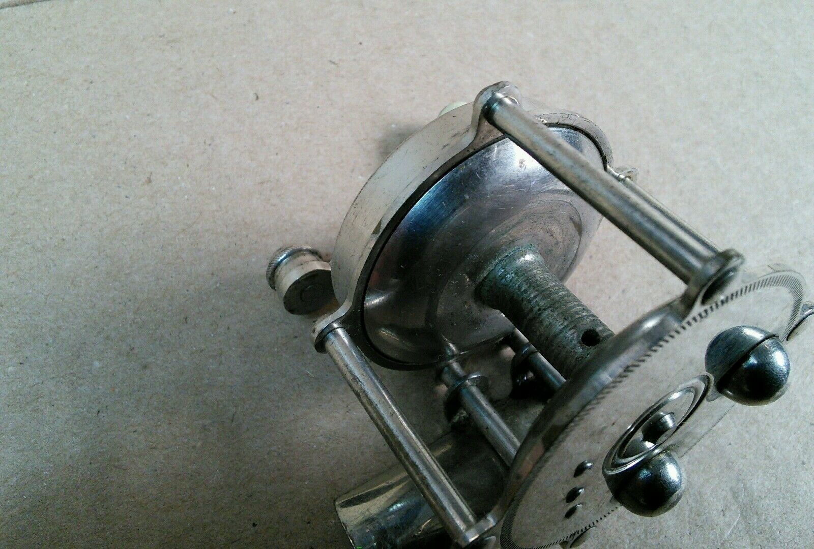 Vintage arbeco stainless small stainless arbeco steel reel e3430a