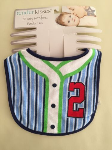 Pack of 4 Baby Boy Sporty Sport Feeder Cotton Bibs Future ALL STAR 0-3 years