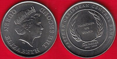 EAST CARIBBEAN STATES 1 DOLLAR 2008 TOGETHER WE STAND COMMEMORATIVE UNC