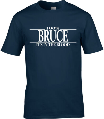 Bruce Surname Mens T-Shirt 100/% Gift Name Family Cool Fun