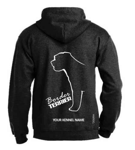 Pullover style,Dogeria Design Dog Breed Hoodie Border Terrier