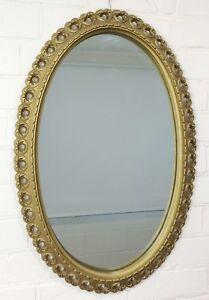 Original-Vintage-Ornate-Gold-Wall-Hanging-Oval-Mirror-362