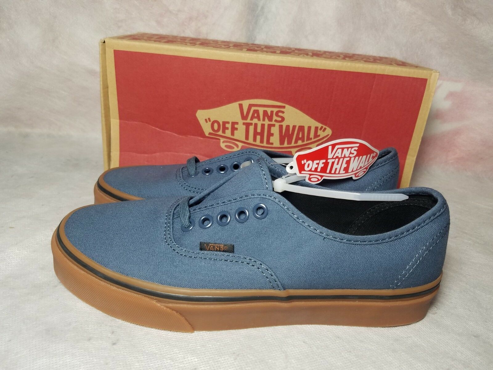 the latest 32aef a83ab New New New Vans Authentic Canvas Men Size 7 Dark Slate Blue Black Brown Gum  Skate.  Adidas  F37858 SellWood Men Women Running Shoes ...