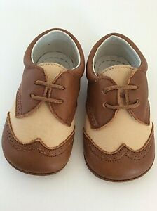 De-Osu-baby-boy-leather-crib-shoe-US-4-EURO-20-oxford-with-laces