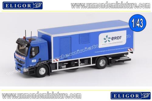 Porteur Renault Premium Distri Camion Court Circuit ERDF ELIGOR 115097 ech 1//43