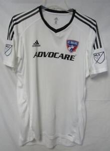 527ae364a FC Dallas Men s Size 8 (Large) Adidas Adizero Jersey White A1 737